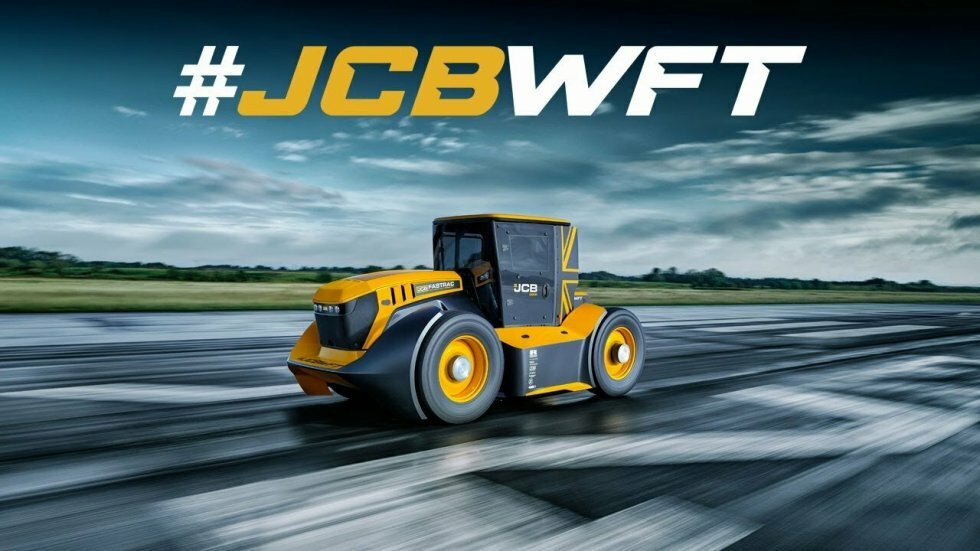 #JCBWFT - The World's Fastest Tractor - Guy Martin's JCB Fastrac Guinness World Record Speed Run - Rekorden for verdens hurtigste traktor er slået: 217 km/t i en JCB Fasttrac