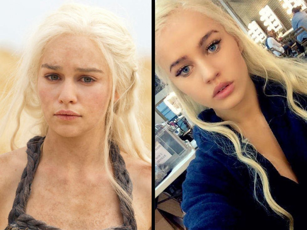 Instagram - Fredagsguf - The 'body double of the Mother of Dragons' issue