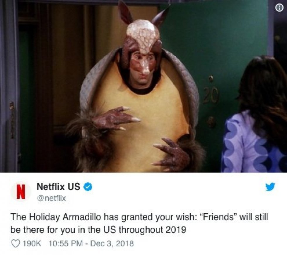 Netflix betaler 650 millioner kroner for at bevare Friends i 2019