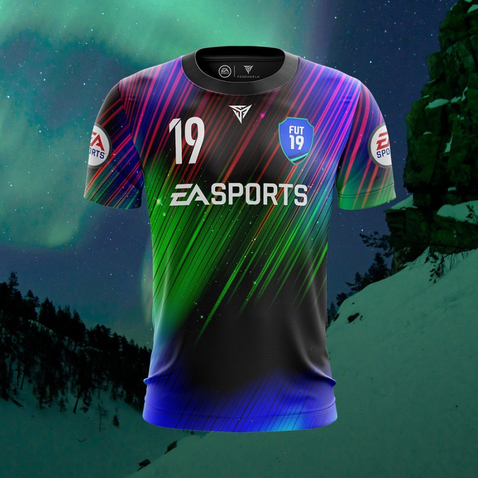 EA Sports x Fokohaela limited edition Northern Lights FIFA-trøje