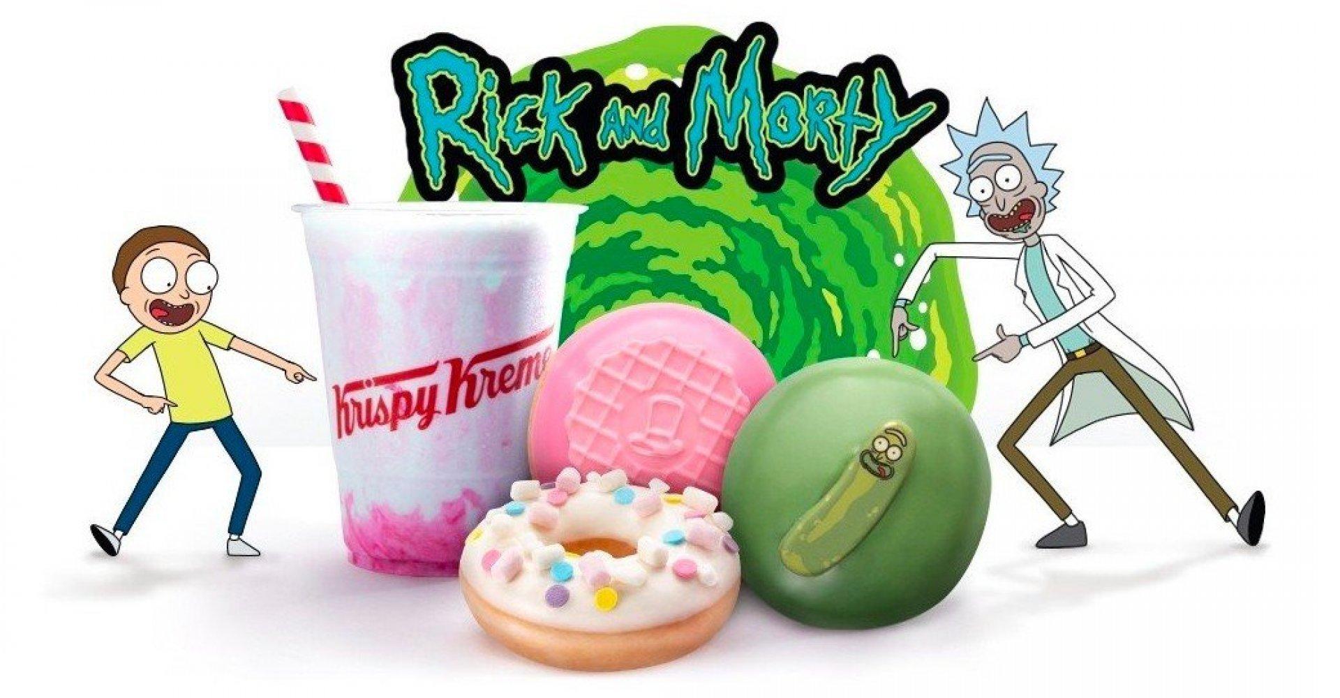 Krispy Kreme lancerer Pickle-Rick-inspireret donut